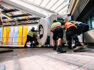 Monash Medical Centre, Clayton, Monash Imaging, installation of the new MRI scanner
