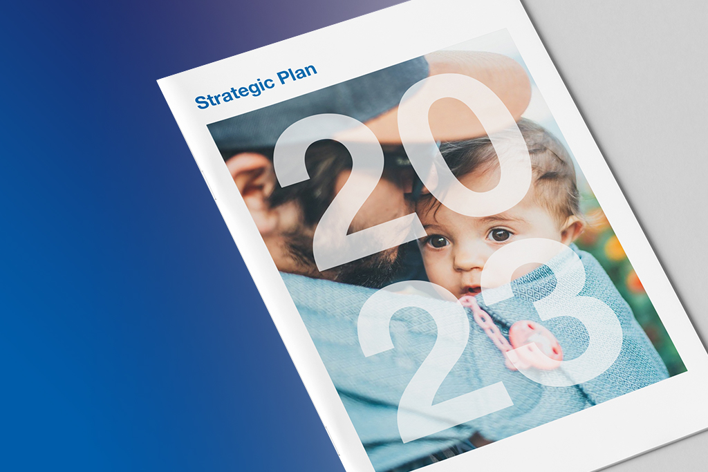 Printed copy of the 2023 Strategic Plan